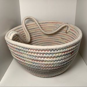 Multi-Colored Rope Basket